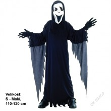Dětský karnevalový kostým PŘÍZRAK VŘÍSKOT 110 - 120cm ( 4 - 6 let )